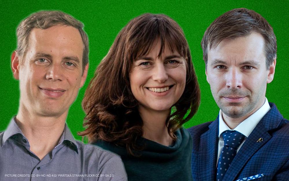 MEPs Patrick Breyer, Alexandra Geese, Marcel Kolaja