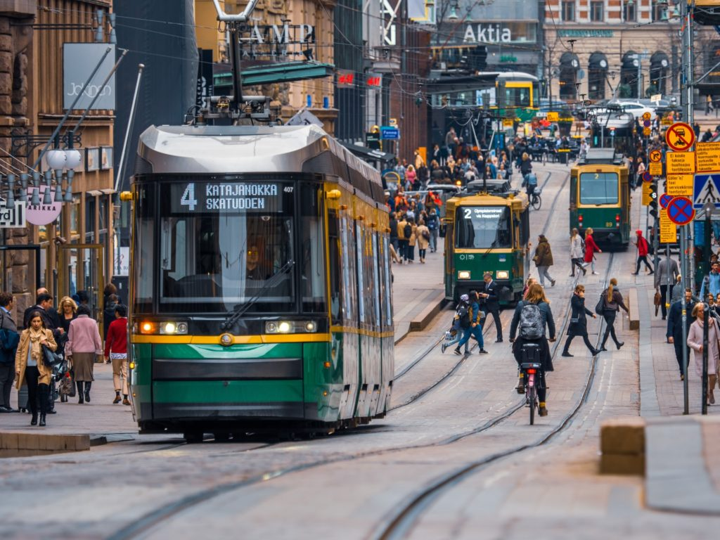 Trams and bicycles/ CC0 Tapio Haaja