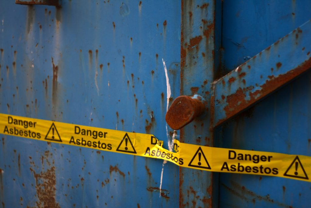 Danger Asbestos Sign/ Nick Southall Flickr CC BY-NC 2.0